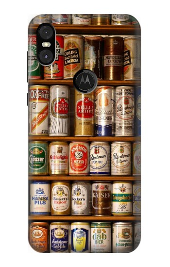 Printed Beer Cans Collection Motorola One (Moto P30 Play) Case