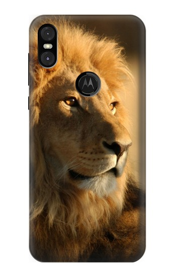 Printed Lion King of Forest Motorola One (Moto P30 Play) Case