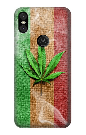 Printed Marijuana Rasta Flag Motorola One (Moto P30 Play) Case