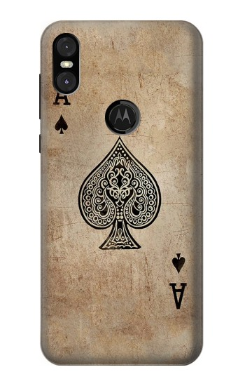 Printed Vintage Spades Ace Card Motorola One (Moto P30 Play) Case