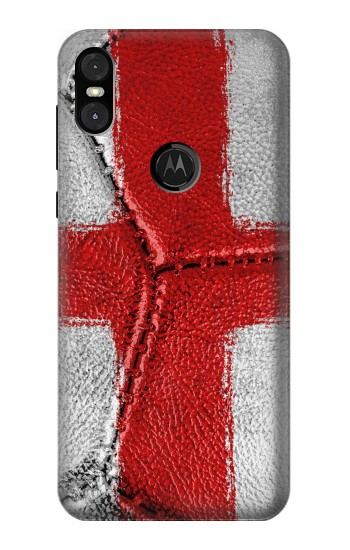 Printed England Flag Vintage Football 2018 Motorola One (Moto P30 Play) Case