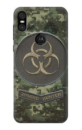 Printed Biohazard Zombie Hunter Graphic Motorola One (Moto P30 Play) Case