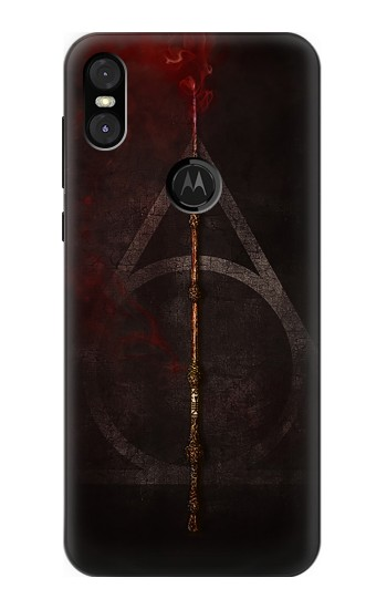 Printed Deathly Hallows Magic Wand Red Motorola One (Moto P30 Play) Case