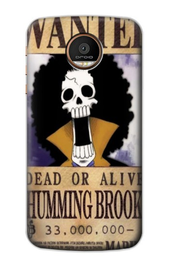 Printed One Piece Humming Brook Wanted Poster Motorola Moto Z Force Case