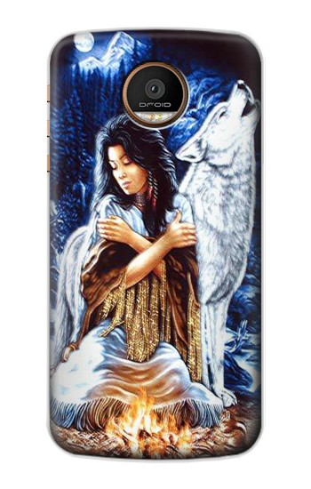 Printed Grim Wolf Indian Girl Motorola Moto Z Force Case