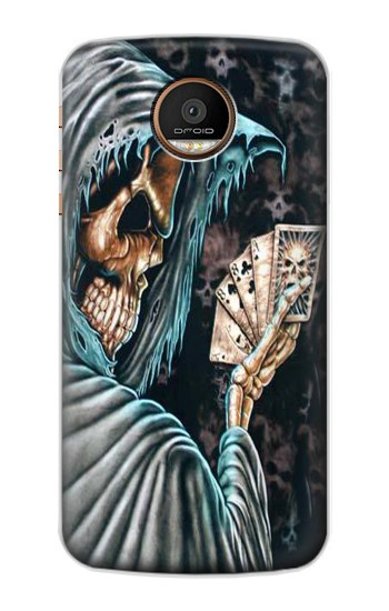 Printed Grim Reaper Death Poker Motorola Moto Z Force Case