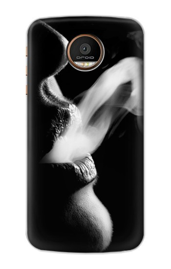 Printed Sexy Lip Girl Smoking Motorola Moto Z Force Case