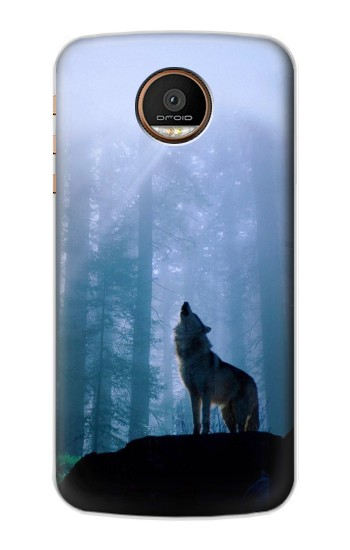 Printed Wolf Howling in Forest Motorola Moto Z Force Case