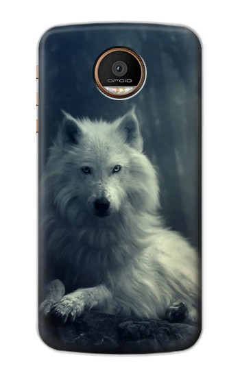 Printed White Wolf Motorola Moto Z Force Case