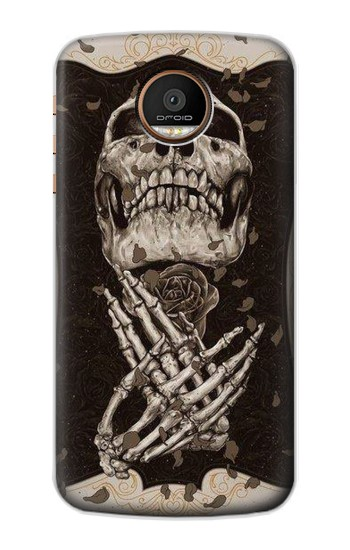 Printed Skull Rose Motorola Moto Z Force Case