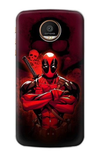 Printed Deadpool Skull Motorola Moto Z Force Case