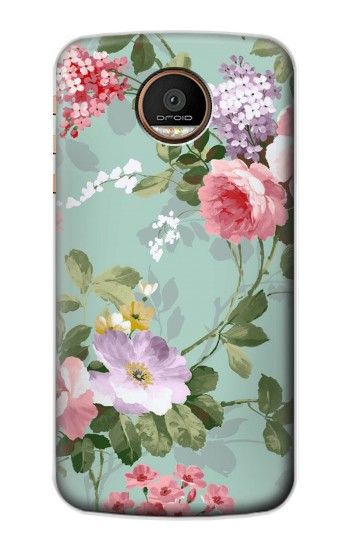 Printed Flower Floral Art Painting Motorola Moto Z Force Case