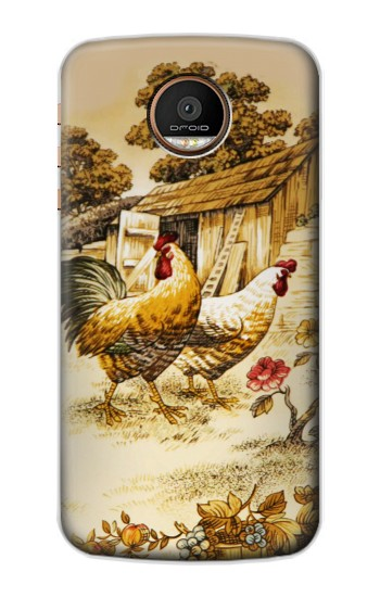 Printed French Country Chicken Motorola Moto Z Force Case