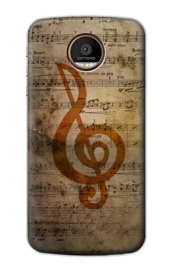 Printed Sheet Music Notes Motorola Moto Z Force Case