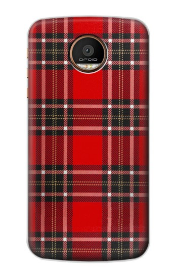 Printed Tartan Red Pattern Motorola Moto Z Force Case