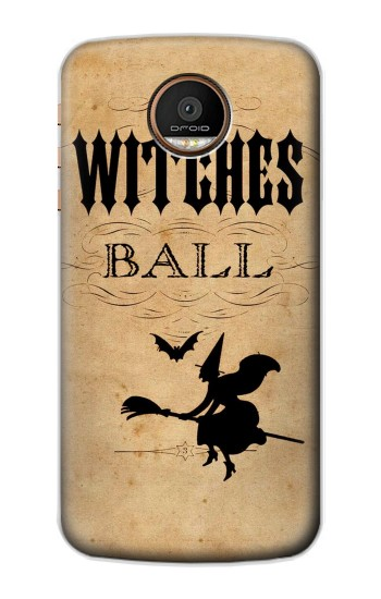 Printed Vintage Halloween The Witches Ball Motorola Moto Z Force Case