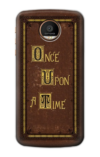 Printed Once Upon a Time Book Cover Motorola Moto Z Force Case