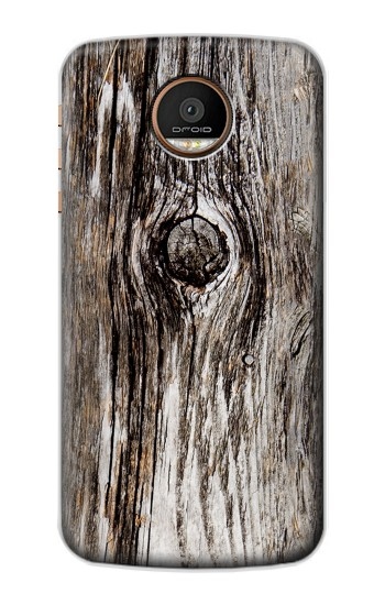 Printed Old Wood Bark Printed Motorola Moto Z Force Case