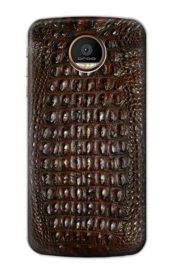 Printed Brown Skin Alligator Graphic Printed Motorola Moto Z Force Case