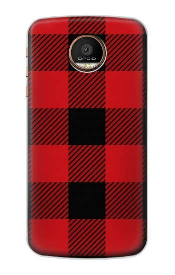 Printed Red Buffalo Check Pattern Motorola Moto Z Force Case