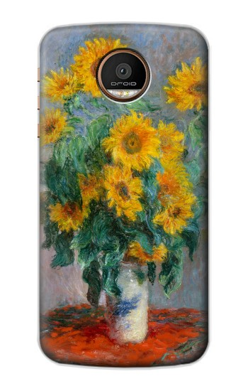 Printed Claude Monet Bouquet of Sunflowers Motorola Moto Z Force Case