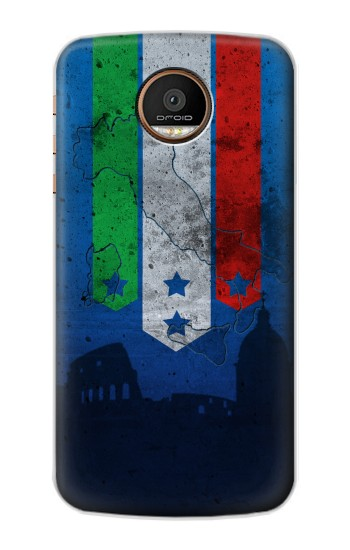 Printed Italy Football Flag Motorola Moto Z Force Case