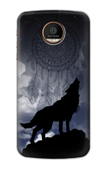 Printed Dream Catcher Wolf Howling Motorola Moto Z Force Case