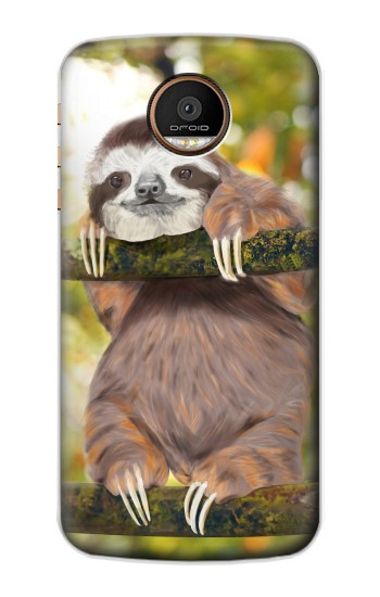 Printed Cute Baby Sloth Paint Motorola Moto Z Force Case