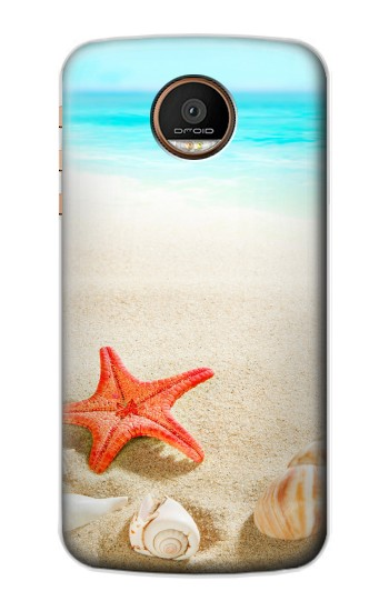 Motorola Moto Z Force, Z Play Sea Shells Starfish Beach Case Cover