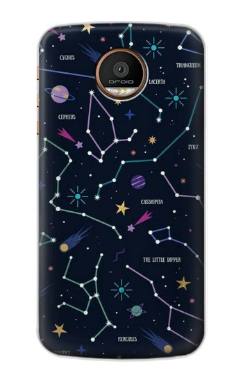 Printed Star Map Zodiac Constellations Motorola Moto Z Force Case