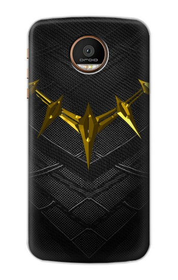 Printed Black Panther Inspired Costume Gold Necklace Motorola Moto Z Force Case