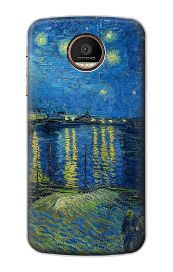 Printed Van Gogh Starry Night Over Rhone Motorola Moto Z Force Case