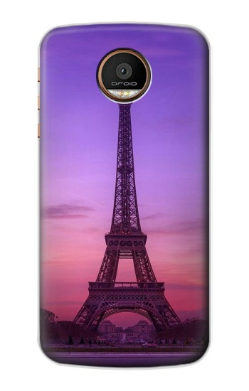 Printed Eiffel Paris Sunset Motorola Moto Z Force Case