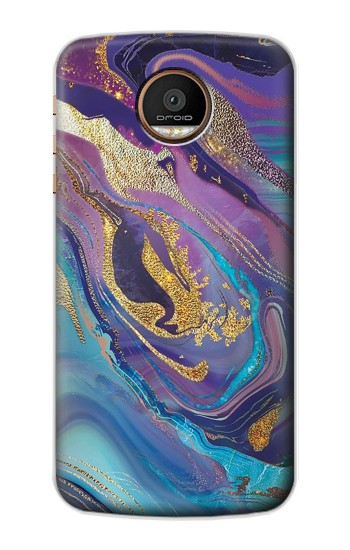 Printed Colorful Abstract Marble Stone Motorola Moto Z Force Case