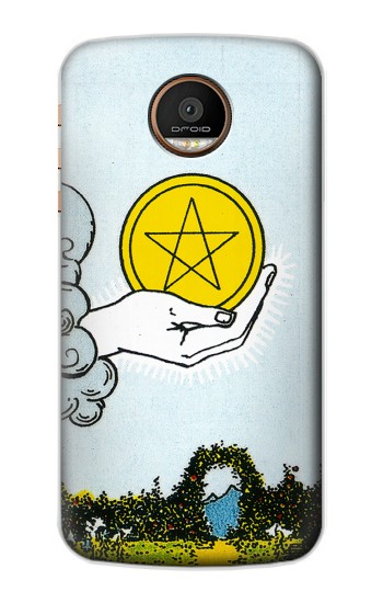 Printed Tarot Card Ace of Pentacles Coins Motorola Moto Z Force Case