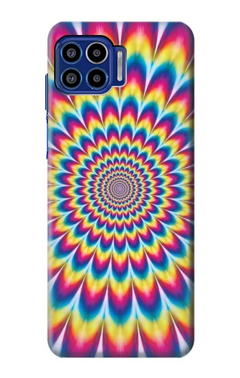 Printed Colorful Psychedelic Motorola One 5G Case