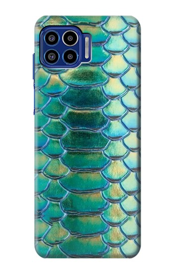 Printed Green Snake Scale Graphic Print Motorola One 5G Case