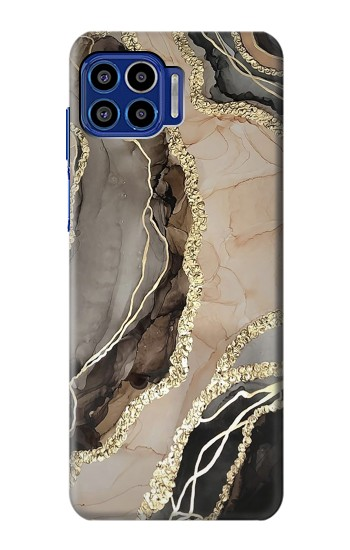 Printed Marble Gold Graphic Printed Motorola One 5G Case