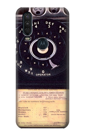 Printed Payphone Vintage Motorola One Action (Moto P40 Power) Case