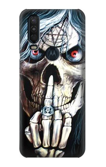 Printed Skull Pentagram Motorola One Action (Moto P40 Power) Case