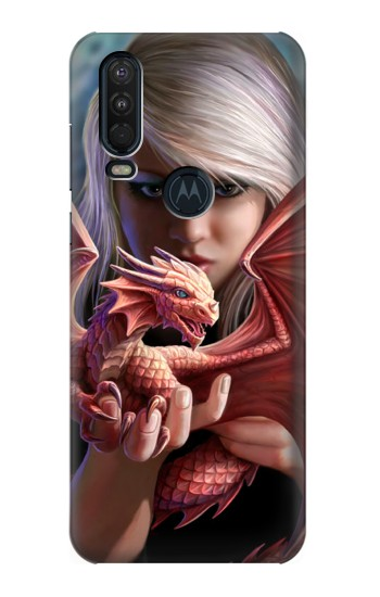 Printed Baby Red Fire Dragon Motorola One Action (Moto P40 Power) Case