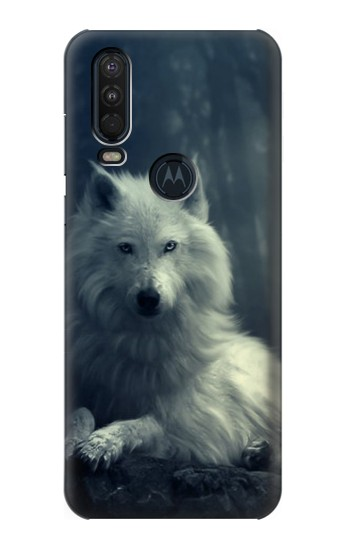 Printed White Wolf Motorola One Action (Moto P40 Power) Case