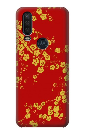 Printed Cherry Blossoms Chinese Silk Graphic Printed Motorola One Action (Moto P40 Power) Case