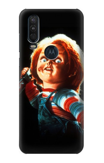 Printed Chucky With Knife Motorola One Action (Moto P40 Power) Case