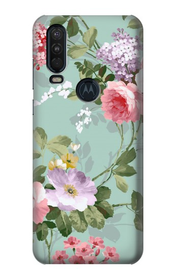 Printed Flower Floral Art Painting Motorola One Action (Moto P40 Power) Case