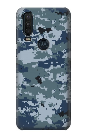 Printed Navy Camo Camouflage Graphic Motorola One Action (Moto P40 Power) Case