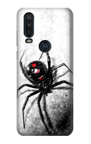 Printed Black Widow Spider Motorola One Action (Moto P40 Power) Case
