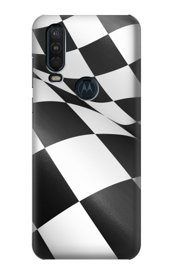 Printed Checkered Winner Flag Motorola One Action (Moto P40 Power) Case