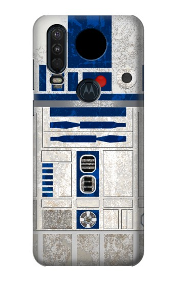 Printed Vintage R2D2 Minimalist Motorola One Action (Moto P40 Power) Case