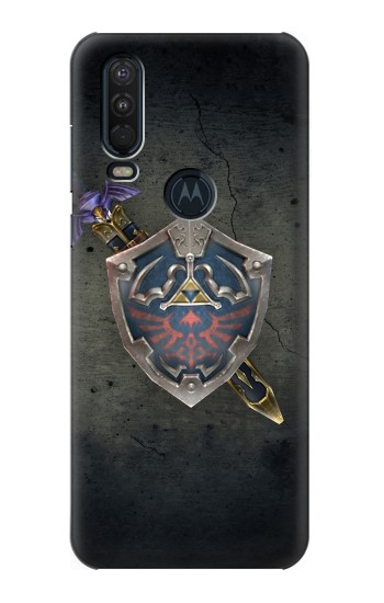 Printed Legend of Zelda Shield Motorola One Action (Moto P40 Power) Case